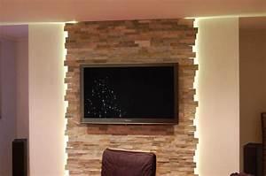 Steinwand Wohnzimmer Tv : wohnzimmer steinwand tv 640 425 muur ideen pinterest ~ Bigdaddyawards.com Haus und Dekorationen