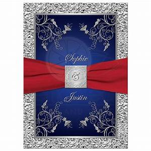 wedding invitation blue and red yaseen for With royal blue and red wedding invitations