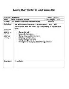 ESL Lesson Plan Format