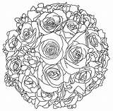 Coloring Bouquet Flower Flowers Printable Drawing Unique Line Bouquets Simple Getdrawings Drawings Getcolorings Draw Bouque sketch template