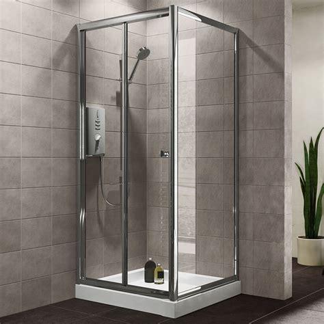 plumbsure square shower enclosure  bi fold door