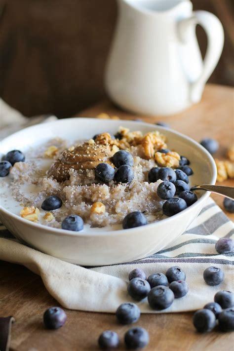 superfood blueberry buckwheat porridge  chia seeds