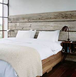 Tete De Lit Bois Sculpté : t te de lit faite en bois flott pour une chambre authentique ~ Teatrodelosmanantiales.com Idées de Décoration