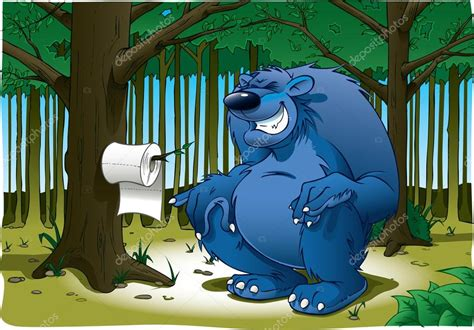 picture bear poop big bear pooping stock photo