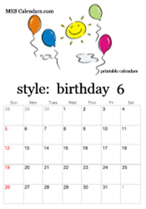 printable birthday calendars personalized calendars print