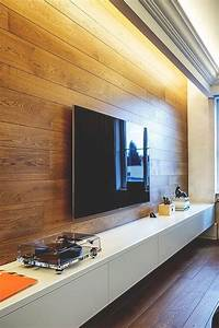 Tv walls tvs and wood plank on