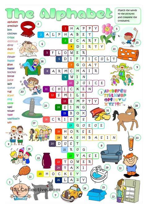 english alphabet crossword exercicios de ingles