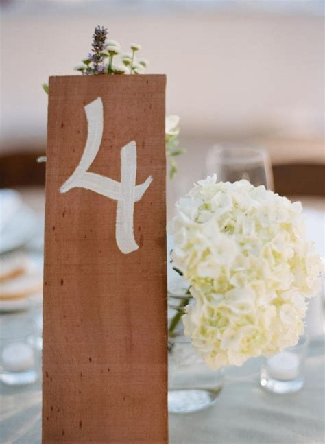 wooden wedding table number ideas