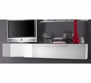 Meuble Tele Moderne : meuble tv suspendu 120 cm grand meuble tv design maison boncolac ~ Teatrodelosmanantiales.com Idées de Décoration