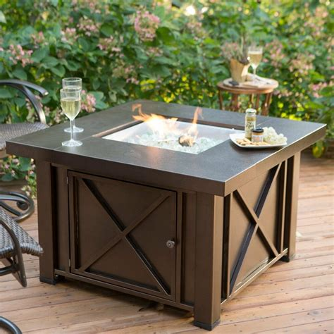 Outdoor Deck Table by Pit Table Gas Burner Patio Deck Outdoor Fireplace