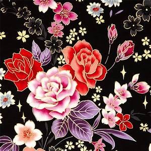 Stoff Mit Blumen : sch ner kokka blumen stoff mit bl ttern goldverzierung blumenstoffe stoffe kawaii shop modes4u ~ Watch28wear.com Haus und Dekorationen