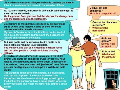 dialogue describing the house