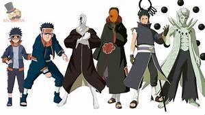 Naruto characters: Uchiha Obito's Evolution - YouTube