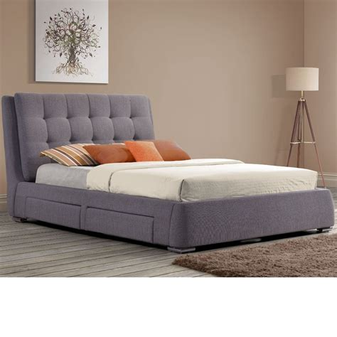 Fabric Storage Bed by Mayfair Grey Fabric 4 Drawer Storage Bed Frame 5ft King Size