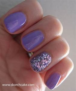 14 Light Purple Glitter Nail Designs Images - Light Purple ...