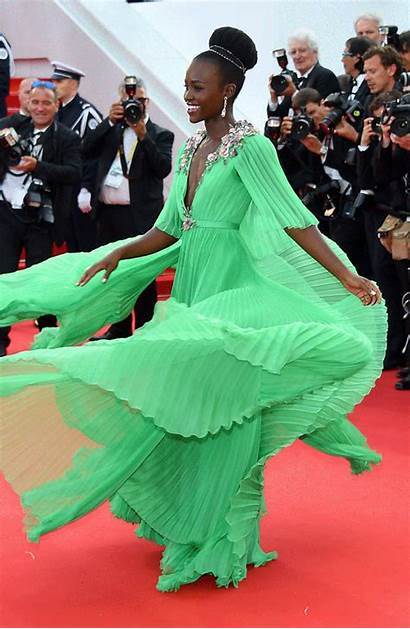 Lupita Nyong Cannes Gown Twirling Festival Carpet