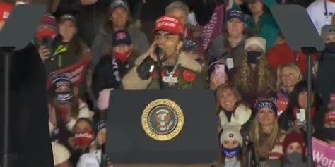 Trump Introduces Lil Pump as 'Little Pimp' During Rally