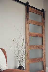 Sliding Barn Door with Glass Panel
