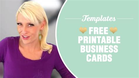 printable business cards templates included youtube