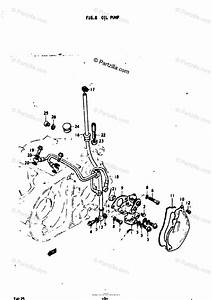 Suzuki Motorcycle 1974 Oem Parts Diagram For Oil Pump