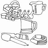 Utensils Coloring Colouring Cooking Sheets Sketchite sketch template
