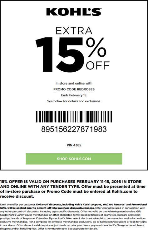 kohls february  coupons  promo codes