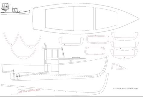 Free Lobster Boats by Lobster Boat Plans Aerofred Free Model