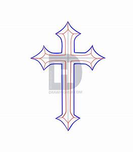 How To Draw A Cross Tattoo, Step by Step, Drawing Guide ...