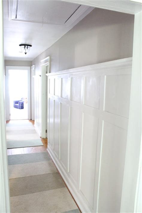 Painted Kitchen Cabinet Ideas - hallway paneling traditional hall new york by northeast furniture studio
