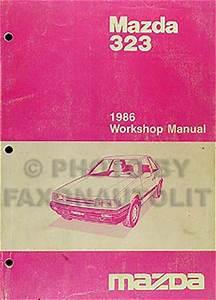 1986 Mazda 323 Original Shop Manual 86 Repair Service Book