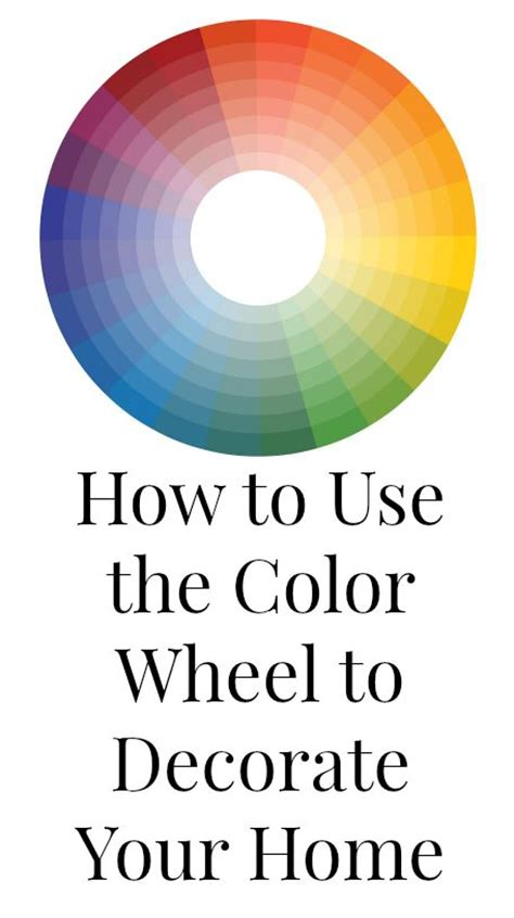 learn how to use the color wheel to the color