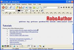 Cuteapps roboauthor create help system documentation for Web documentation software