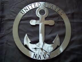 US Navy Anchor Metal Art