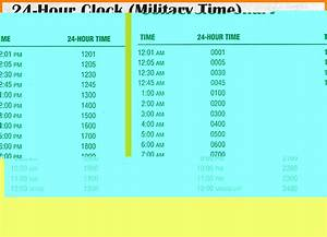 7 Military Time Conversion Table Introduction Letter