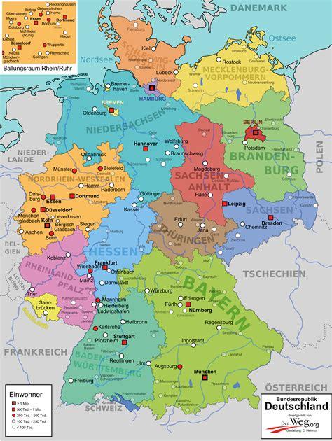 bundeslaender karte von deutschland deutschland karte