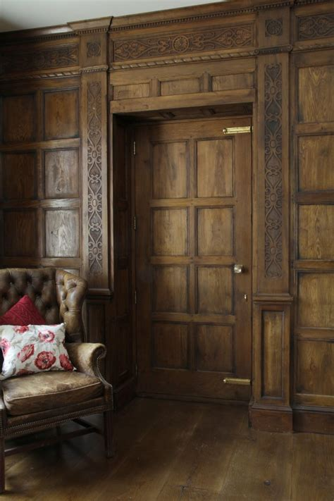 oak panelling panelled rooms distinctive country