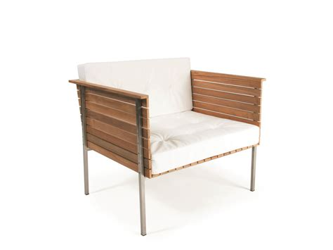 teak garden armchair h 196 ringe low lounge chair by