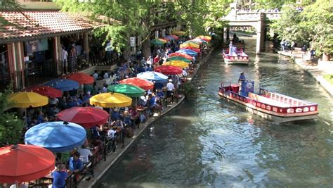 San Antonio River Boat Dinner by San Antonio Circa 2008 Floating Barge Boats And