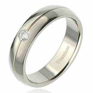 new 6mm titanium cubic zirconia band mens wedding ring ebay With cubic zirconia mens wedding rings