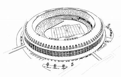Stadium Coloring Football Pages Printable Cardinals Field