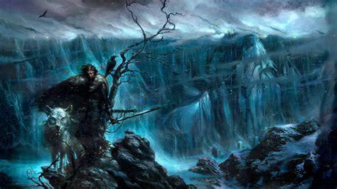 game  thrones jon snow direwolves  wall snow