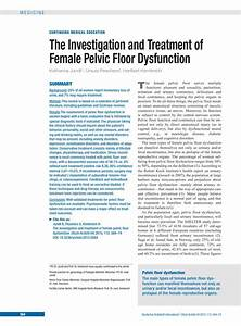 the investigation and treatment of female pelvic floor With pelvic floor dyssynergia causes