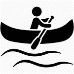 Canoe Kayak Icon Canoeing Water Sports Svg