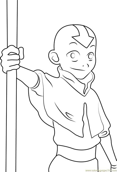 Avatar Coloring Pages by Aang Coloring Page Free Avatar The Last Airbender
