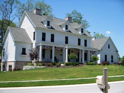 colonial farmhouse plans colonial country farmhouse traditional house plan 56609