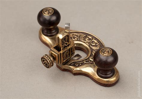 beautiful brass  rosewood miniature router plane