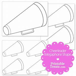 Megaphone template coloring pages for Cheerleading templates printable
