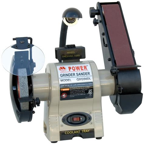 """Master Quality™ Tools 6"""" Bench Grinder And Belt Sander"""