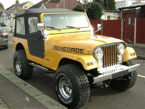 sale  jeep cj renegade   manual rhd classic cars hq
