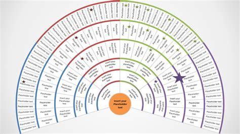 powerpoint genealogy fan chart  generations slidemodel